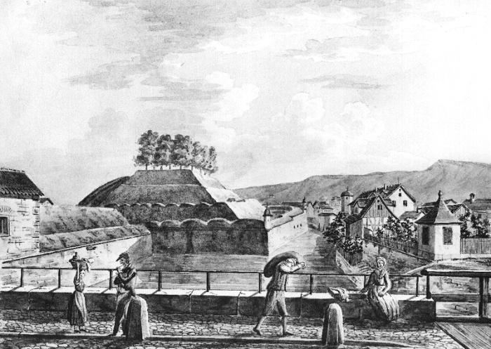 zc3bcrich_-_stadtbefestigung_-_bastion_katz_-_emil_schulthess_1834-35